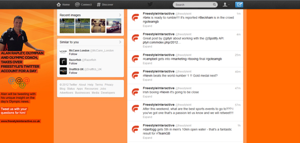 Freestyle Twitter background
